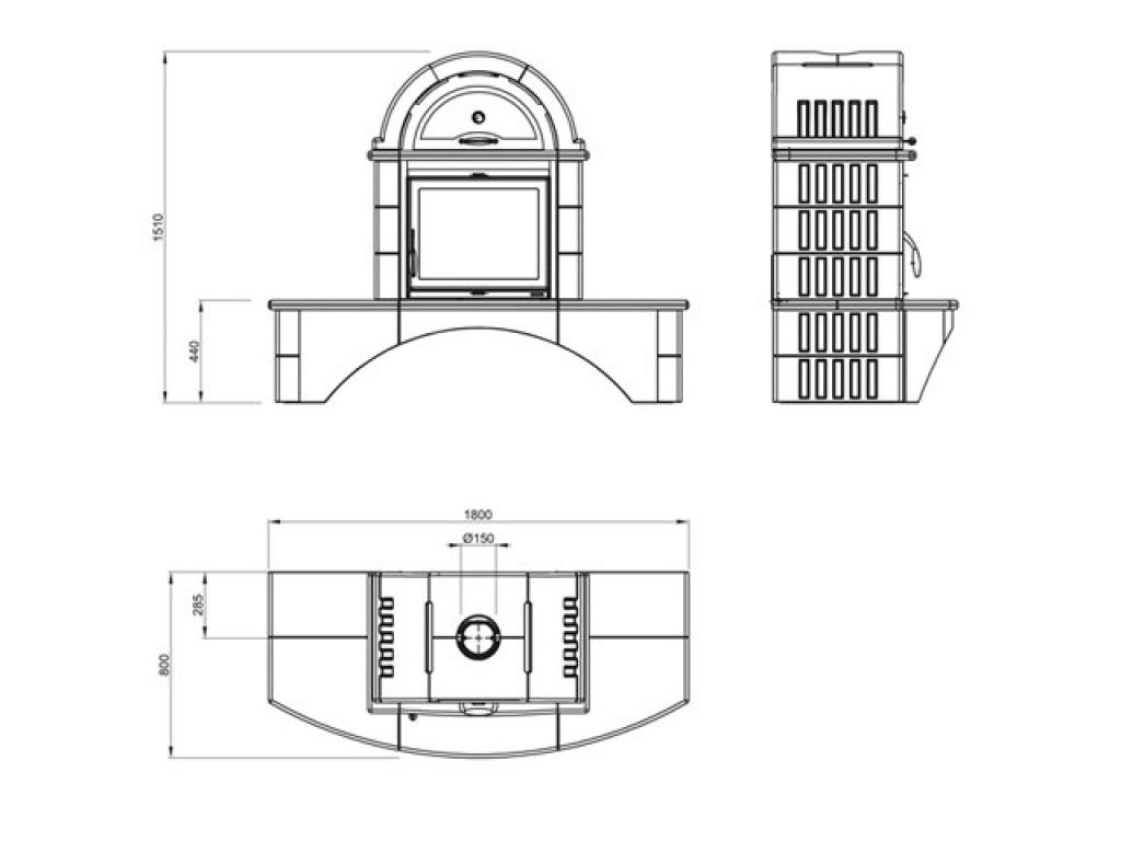 exkluz vne krbov kachle la nordica falo 2c. Black Bedroom Furniture Sets. Home Design Ideas